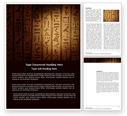 Egyptian Hieroglyphs Word Template, 03864, Religious/Spiritual — PoweredTemplate.com