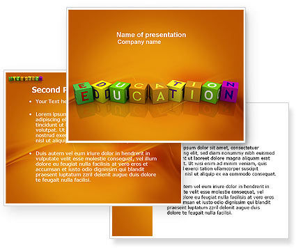powerpoint backgrounds school. Education PowerPoint Template
