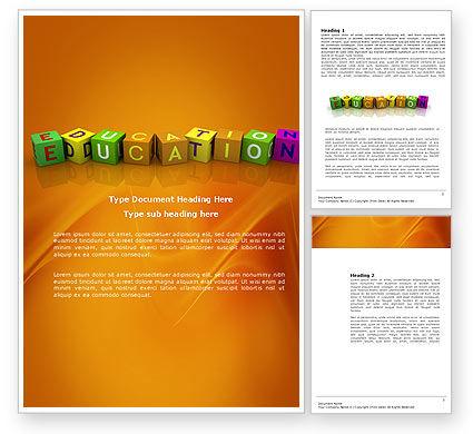 Visual Education Word Template