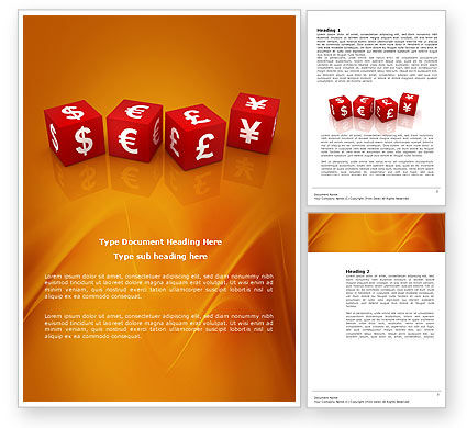 Financial/Accounting: World Currency Word Template #03881