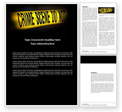 Crime Scene Word Template, 03883, Military — PoweredTemplate.com