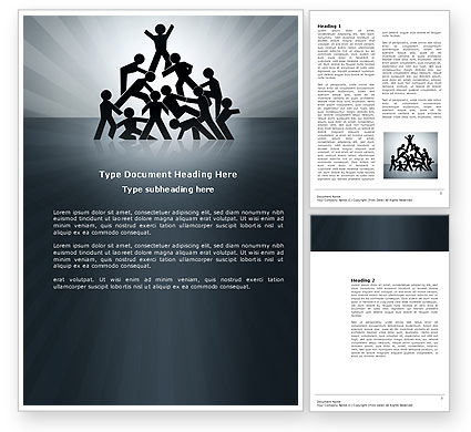 Business Concepts: Team Victory Word Template #03885