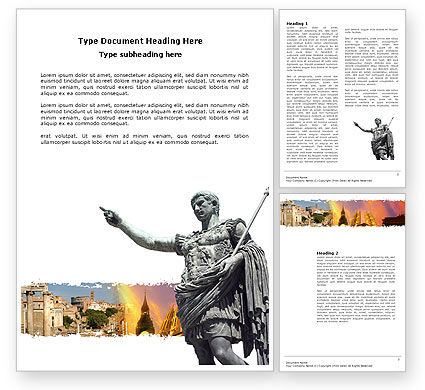 Caesar Word Template, 03886, Flags/International — PoweredTemplate.com