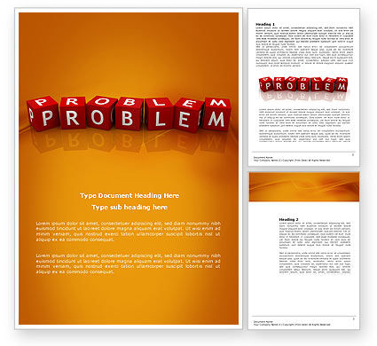 Problem Word Template, 03887, Education & Training — PoweredTemplate.com
