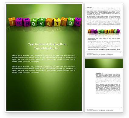 Education & Training: Innovation Cubes Word Template #03888