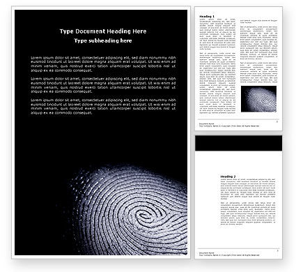 Fingerprint Word Template, 03890, People — PoweredTemplate.com