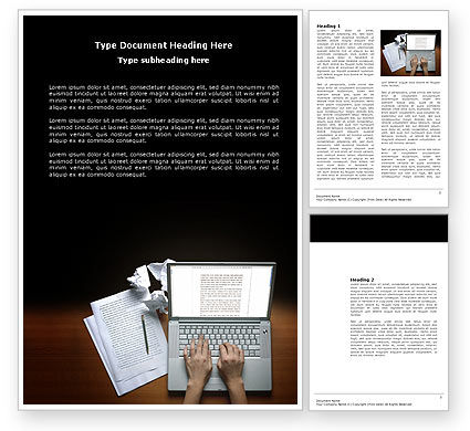Technology, Science & Computers: Proofreading Word Template #03891