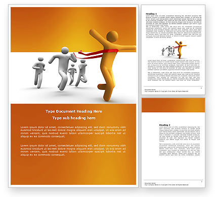 Business Concepts: Victory In The Race Word Template #03896