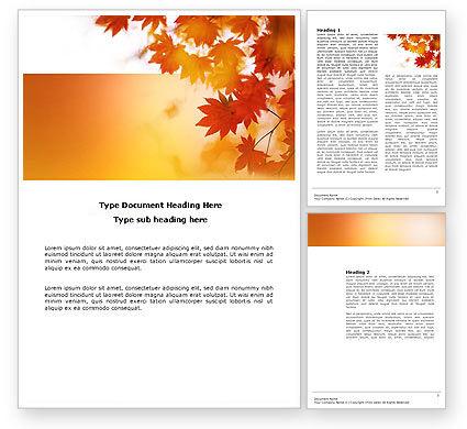 Nature & Environment: 秋の季節 - Wordテンプレート #03898