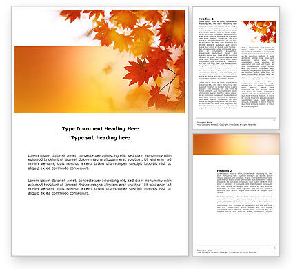 Nature & Environment: Autumn Season Word Template #03898