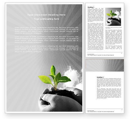 Nature & Environment: New Sprout Word Template #03899