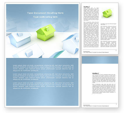 Construction: Living Area Zoning Word Template #03902