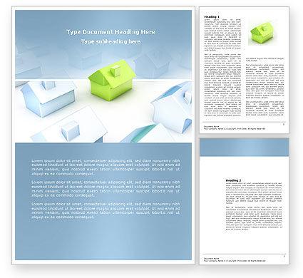 Living Area Zoning Word Template, 03902, Construction — PoweredTemplate.com