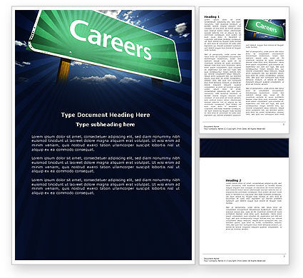 Careers/Industry: Careers Word Template #03907