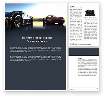 Concept Cars Word Template, 03909, Cars/Transportation — PoweredTemplate.com