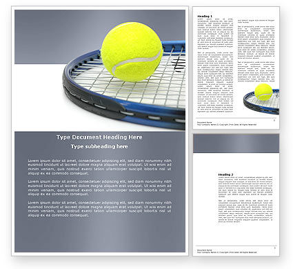 Tennis Ball Word Template, 03918, Sports — PoweredTemplate.com