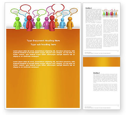 Consulting: Talk Word Template #03925