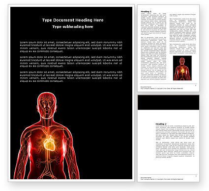Medical: Blood Vascular System Word Template #03930