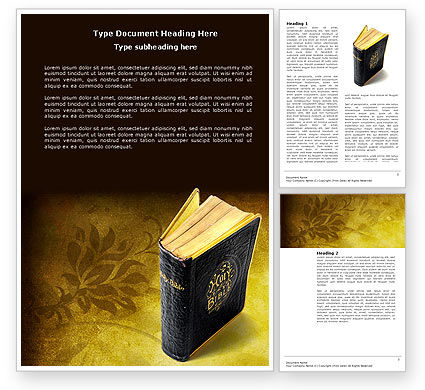 Religious/Spiritual: Christian Bible Word Template #03936