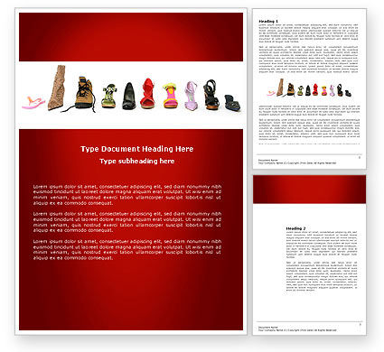 Lady's Shoes Word Template, 03937, Careers/Industry — PoweredTemplate.com