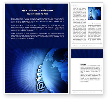 Telecommunication: Email Service Word Template #03940