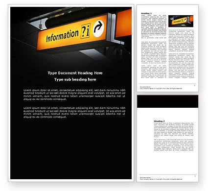 Information Bureau Word Template, 03942, Consulting — PoweredTemplate.com