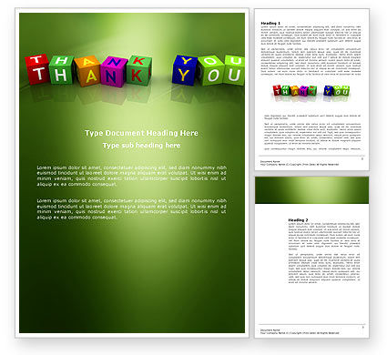 Business Concepts: Thank You Cubes Word Template #03944