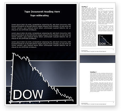 Financial/Accounting: Dow Jones Index Word Template #03945