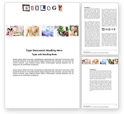 Education & Training: Biology Class Word Template #03951