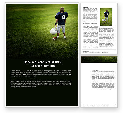 American Football in School Word Template, 03952, Sports — PoweredTemplate.com