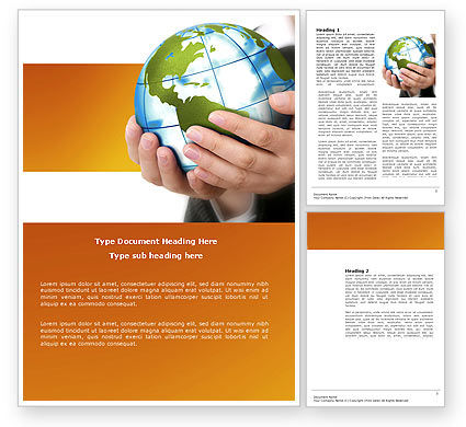 World Tendencies Word Template, 03964, Global — PoweredTemplate.com