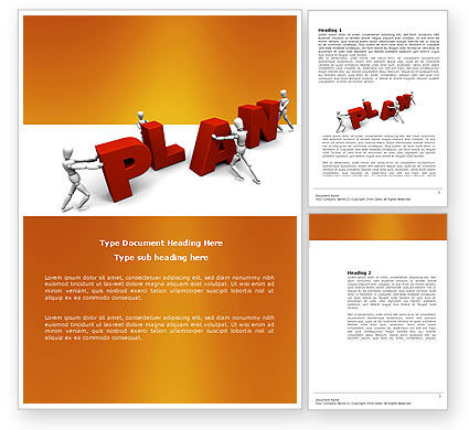 Plan Word Template, 03966, Consulting — PoweredTemplate.com