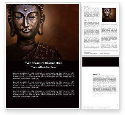 Religious/Spiritual: Buddha In Meditation Word Template #03973