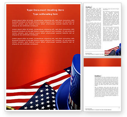 America: Symbols Of USA Elections Word Template #03982