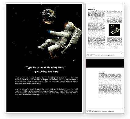 Technology, Science & Computers: Cosmonaut Word Template #03991