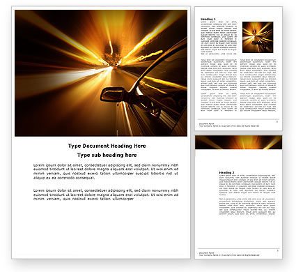 Cars/Transportation: Need for Speed Word Template #03992