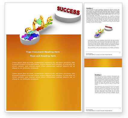 Business Concepts: Bridge To Success Word Template #04006
