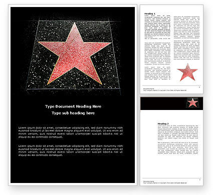Careers/Industry: Walk of Fame Word Template #04009