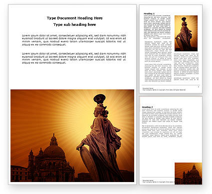 Art & Entertainment: Venice Word Template #04013