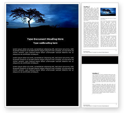 Nature & Environment: Twilight Word Template #04014