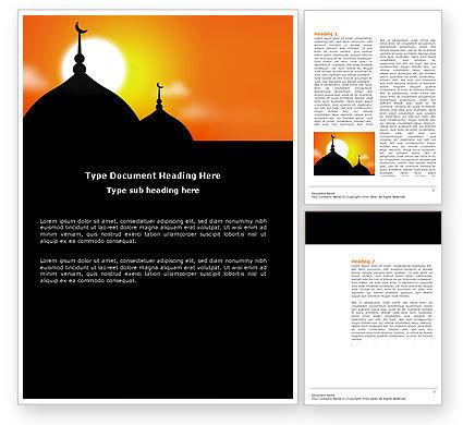 Mosques Word Template, 04019, Religious/Spiritual — PoweredTemplate.com