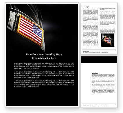 American Armed Forces Word Template, 04026, Military — PoweredTemplate.com