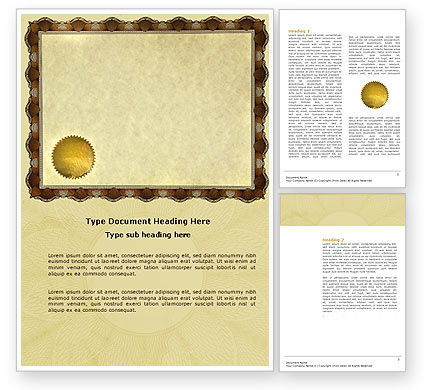 Abstract/Textures: Certificate Word Template #04029