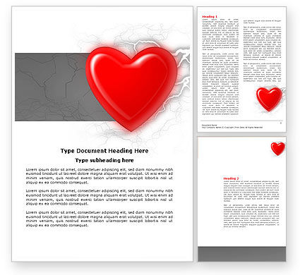 Romantic Emotion Word Template, 04033, Holiday/Special Occasion — PoweredTemplate.com