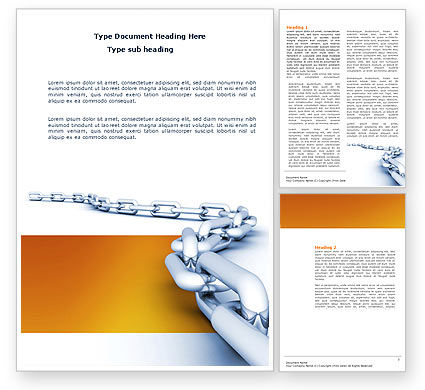 Business Concepts: Chain Word Template #04056