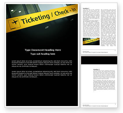 Ticketing Word Template, 04057, Cars/Transportation — PoweredTemplate.com