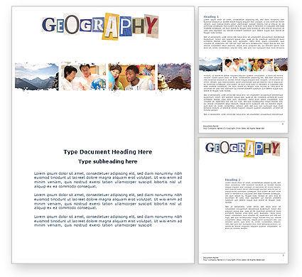 Education & Training: Modelo do Word - curso opcional de geografia #04060