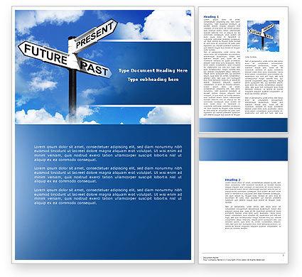 Future Past Word Template, 04063, Business Concepts — PoweredTemplate.com