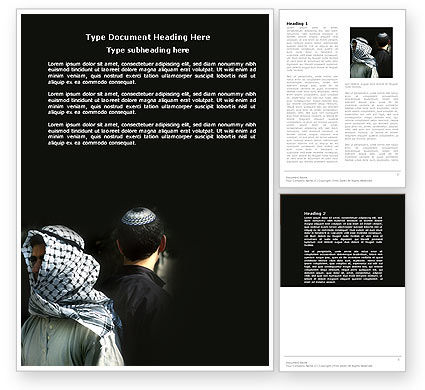 Arab-Israeli Conflict Word Template, 04064, People — PoweredTemplate.com