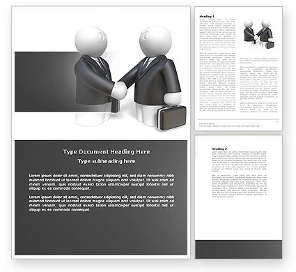 Contractual Agreement Word Template, 04069, Consulting — PoweredTemplate.com